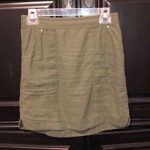WHBM army green skirt